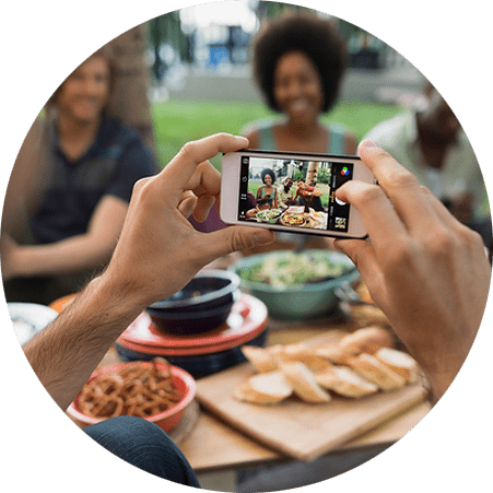 plant based eating and social media sharing