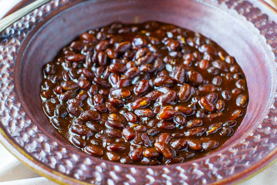 Bourbon-Maple Slow Cooker Baked Beans