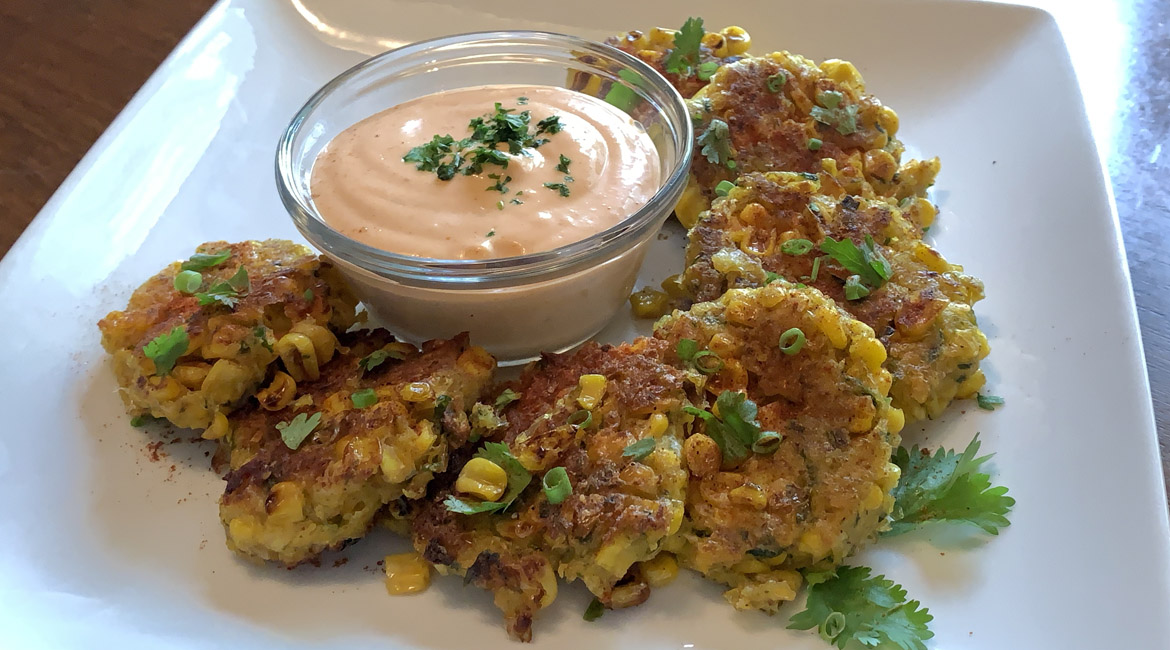 Elote-Style Corn Fritters